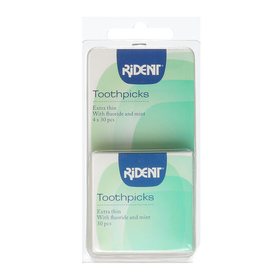 Rident Tooth Picks Extra Thin Soft Wood  4 x 30, , large