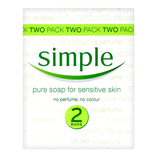 Simple Pure Soap Sensitive Skin 2 x 125g, , large