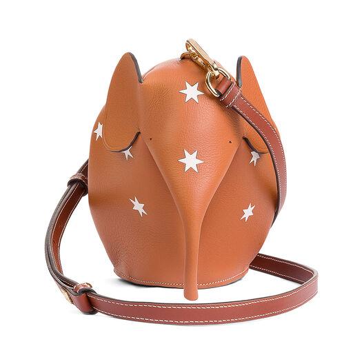 LOEWE Mini Bolso Estrellas Elefante Bronceado/Blanco all