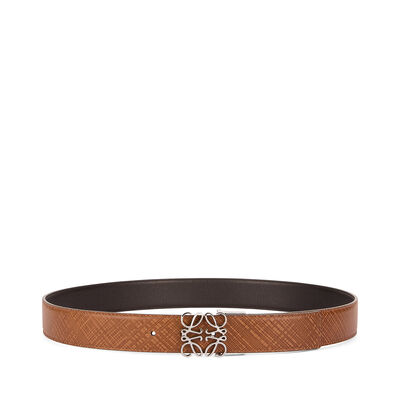LOEWE Anagram Belt 3.2Cm Adj/Rev Dark Brown/Black front