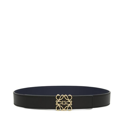 LOEWE Anagram Belt 3.2Cm Black/Navy/Gold all