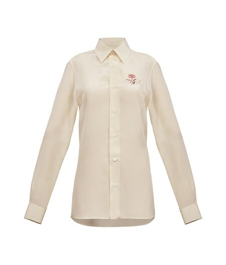 LOEWE Classic Shirt W/ Embroidery White all