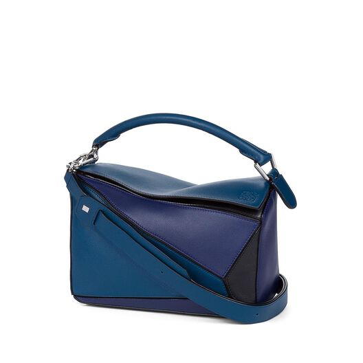 LOEWE Puzzle Small Bag Indigo/Marine/Black all