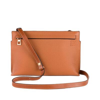 LOEWE T Mini Bag Tan front