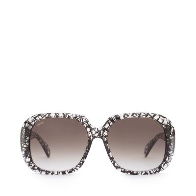 LOEWE Aiguablava Sunglasses Transparent/Black front