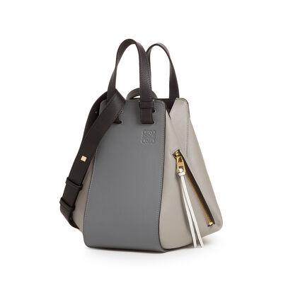 LOEWE Hammock Small Bag Grey Multitone front