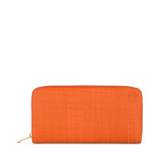 LOEWE Billetero C/Cremallera Naranja all