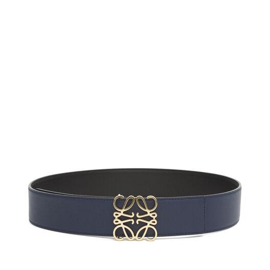 LOEWE Anagram Belt 4Cm Black/Navy/Gold all