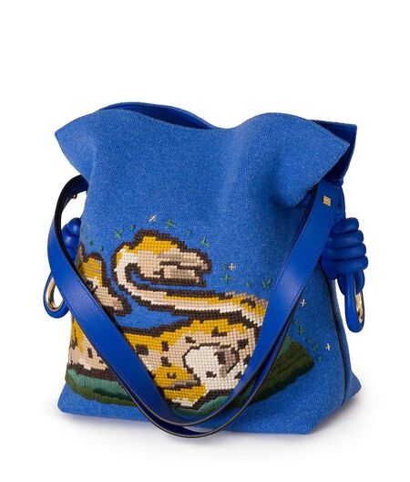 LOEWE Flamenco Knot Animals Bag Electric Blue all