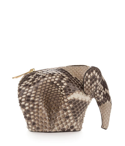 LOEWE Elephant Coin Purse Natural front