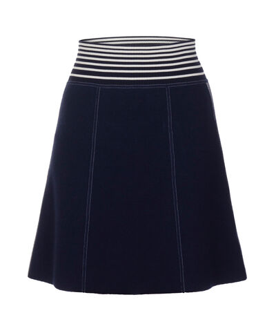 LOEWE Knit Skirt Stripes Navy/White front