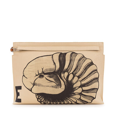 T Pouch Fossil Print