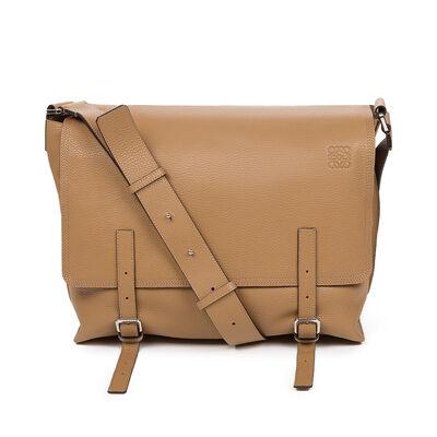 LOEWE Military Messenger Bag Mink front