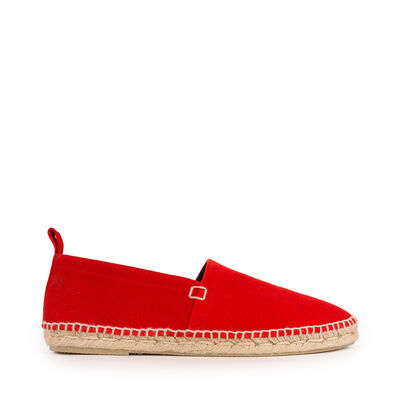 LOEWE Espadrille Suede Red front