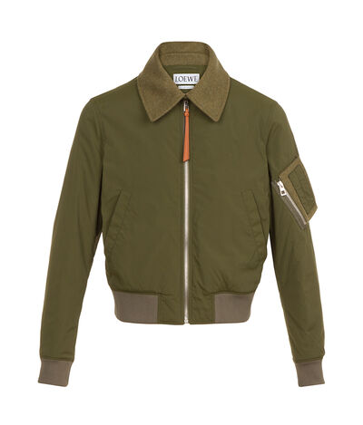 LOEWE Bomber Jacket Loewe Dog Khaki Green front