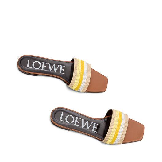 LOEWE Chancla Multicolor/Amarillo all