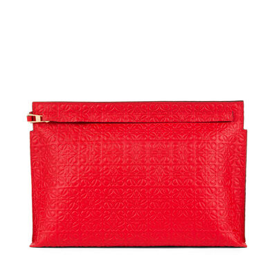 LOEWE T Pouch Primary Red front