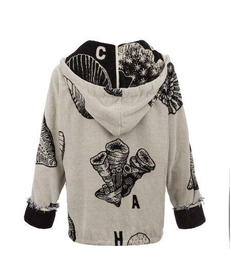 LOEWE Zipped Hoodie Sweatshirt Black/White all