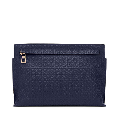 LOEWE T Mini Bag Navy Blue front