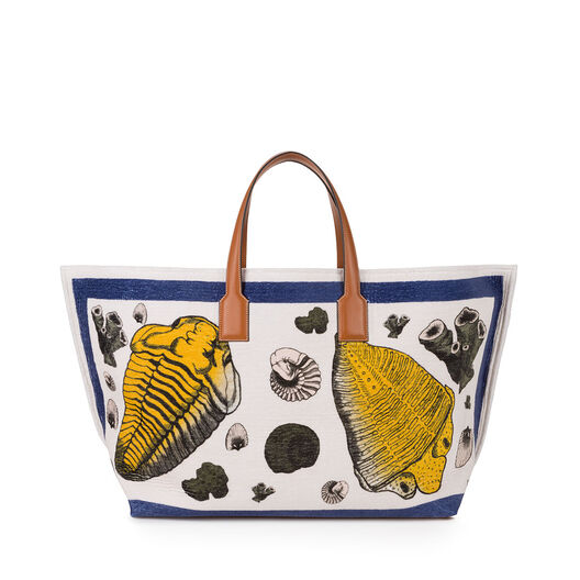 T Tote Fossil Print Large Bag