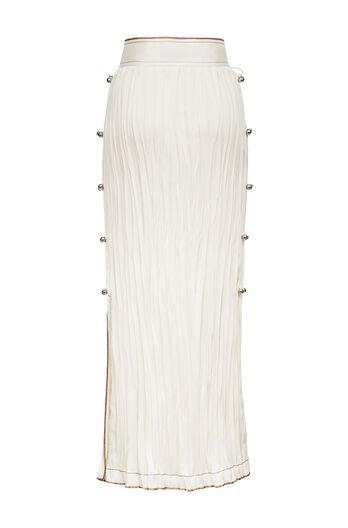 LOEWE Bowls Crinkle Skirt Blanco all