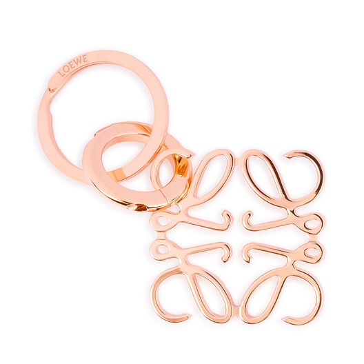LOEWE Anagram Keyring Rose Gold all