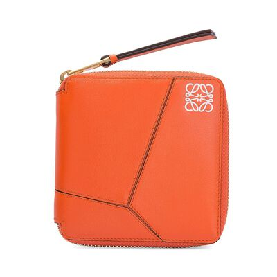 LOEWE Puzzle Small Wallet Coral front