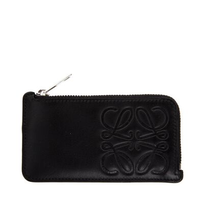 LOEWE Key/Coin Holder Anagram Black front