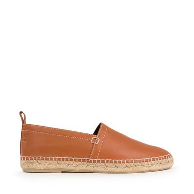 LOEWE Espadrille Contrast Stitching Tan front