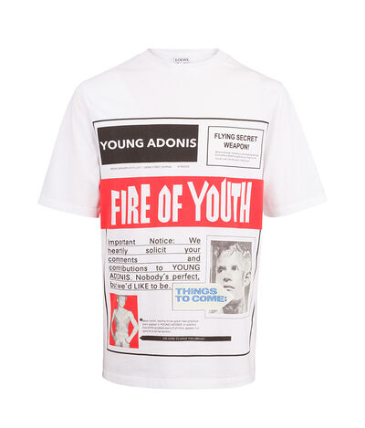 LOEWE T-Shirt Fire Of Youth Poster White front