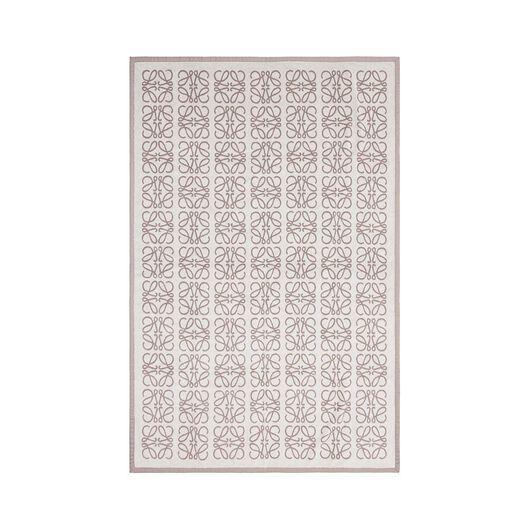LOEWE Big Monograms Jacquard Towel Light Beige/Ivory all