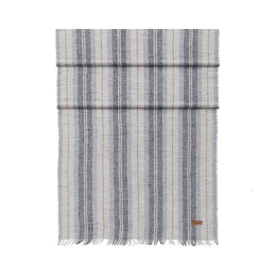 LOEWE 60X200 Stripes Scarf Blue front