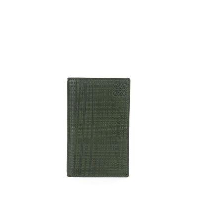 LOEWE Compact Wallet Khaki Green front