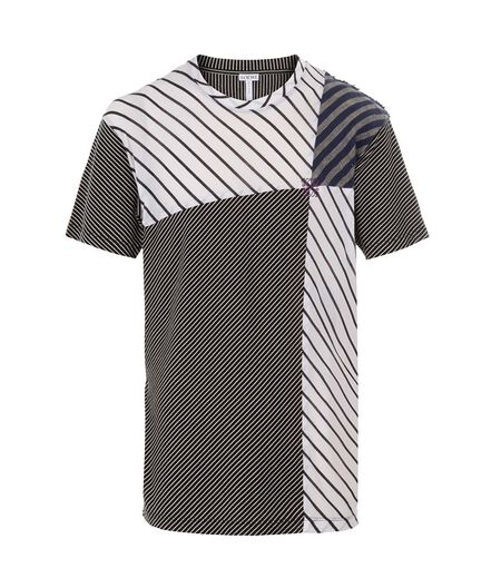 LOEWE Tshirt Patchwork Stripes Blue/White all