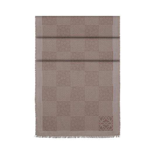 LOEWE 35X180 Anagrams Double Scarf Beige all