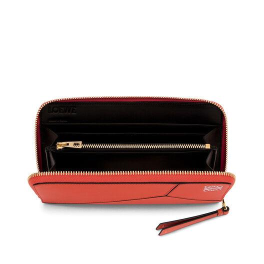 LOEWE Puzzle Zip Around Wallet Red all