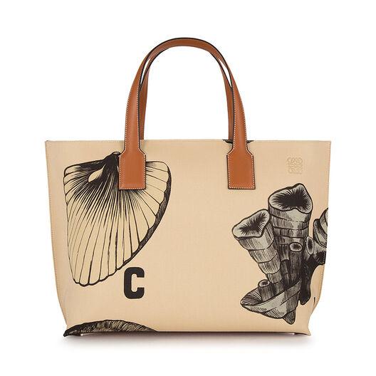 T Tote Fossil Print Bag