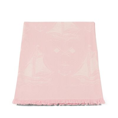 LOEWE 100X140 Small Boats Blanket Light Pink front