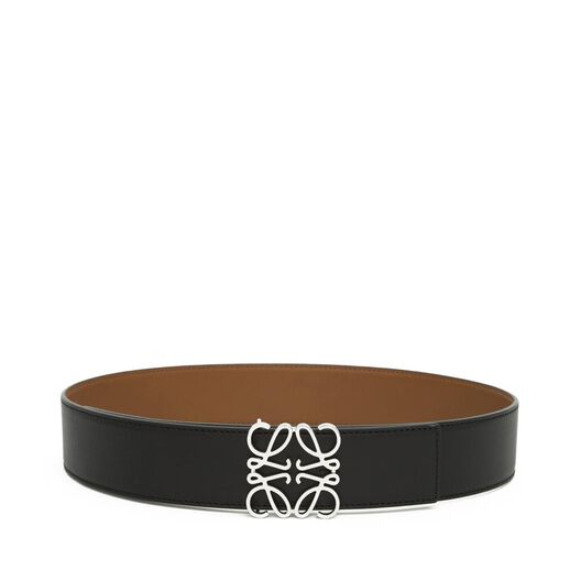 LOEWE Anagram Belt 4Cm Black/Tan/Palladium all