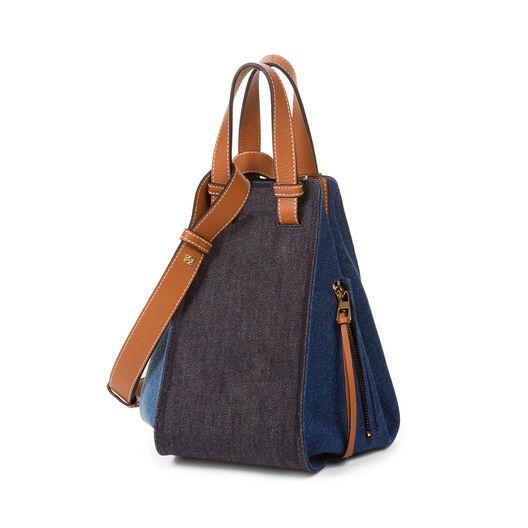 LOEWE Hammock Small Bag Multitone Denim/Tan all