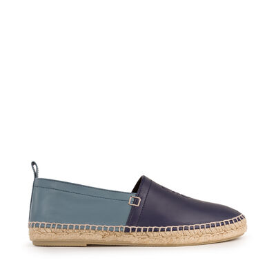 LOEWE Bicolor Espadrille navy/stone blue front