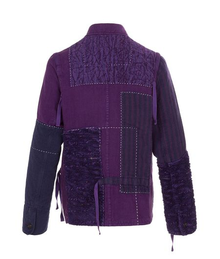LOEWE Jacket With Patches Purple all
