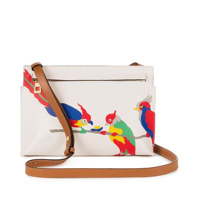 LOEWE Paulas Ibiza T Mini Bag Parrot White/Multicolor front