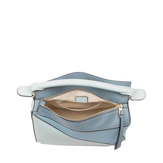 LOEWE Puzzle Bag Aqua/Light Blue/Stone Blue all