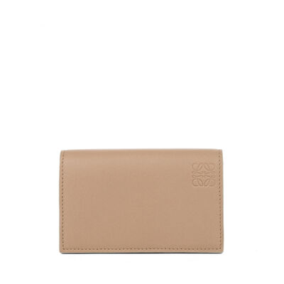 LOEWE Business Card Holder Sand/Electric Blue front