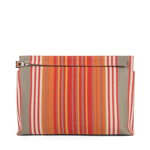 T Pouch Stripes Print