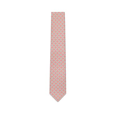 LOEWE 7Cm Tricolor Anagram Tie Grey/Red front