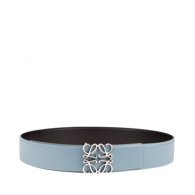 LOEWE Anagram Belt 4Cm Stone Blue front
