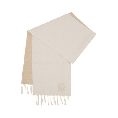 LOEWE 30X180 Anagram Scarf Ivory/Sand front