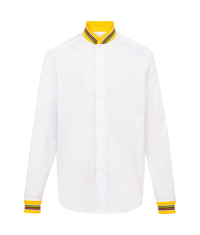 LOEWE Teddy Collar & Cuff Shirt White/Yellow front